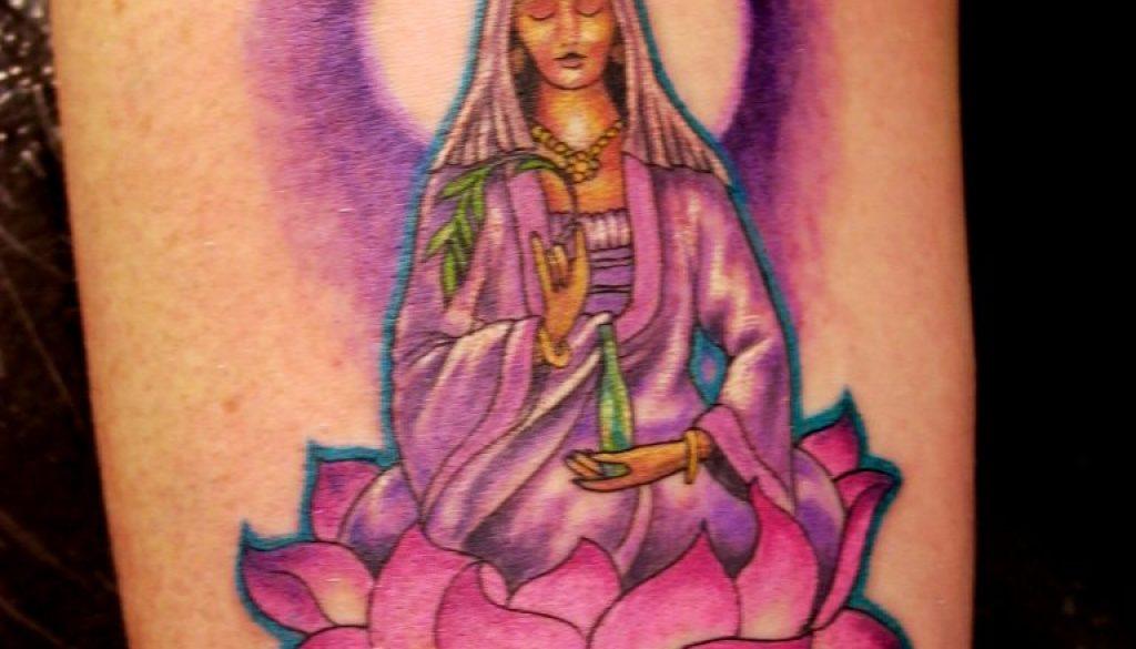 budda tattoo lotus