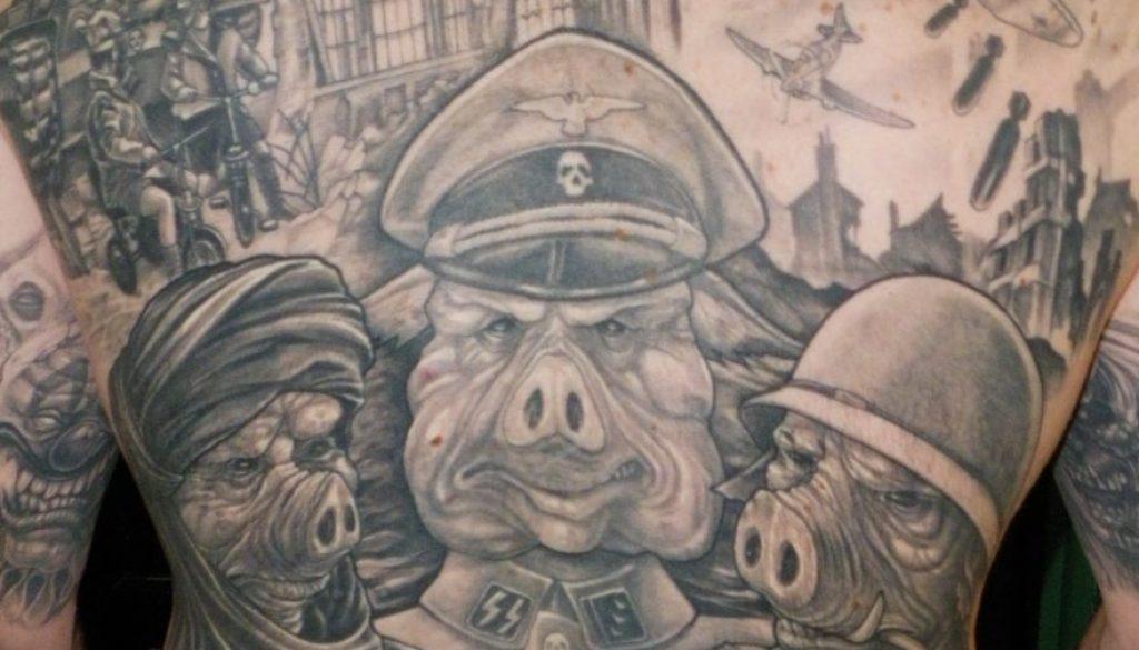War Tattoo back pice