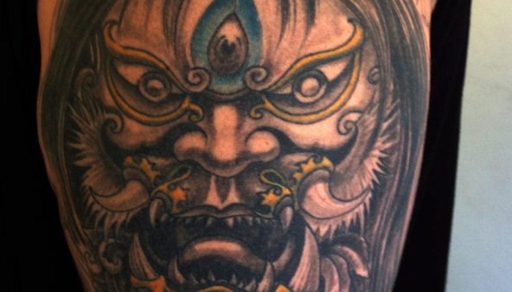 japan demon tattoo Tauranga New Zealand