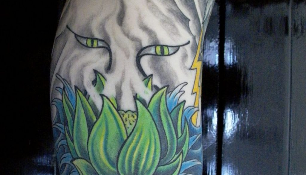 lotus tattoo Tauranga New Zealand