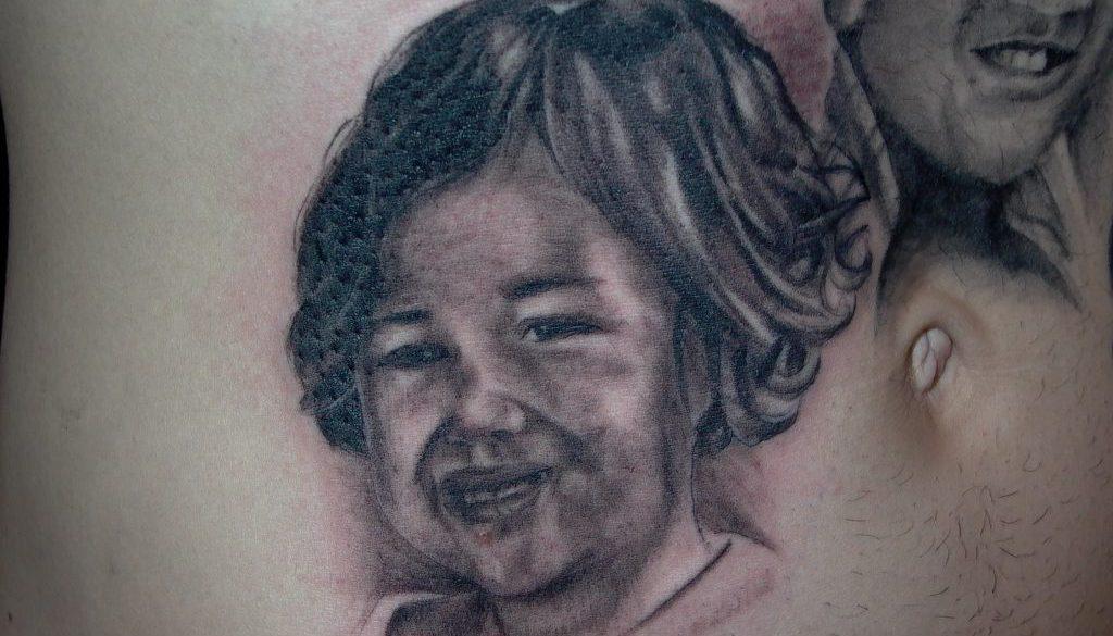 kids portrait tattoo Tauranga New Zealand