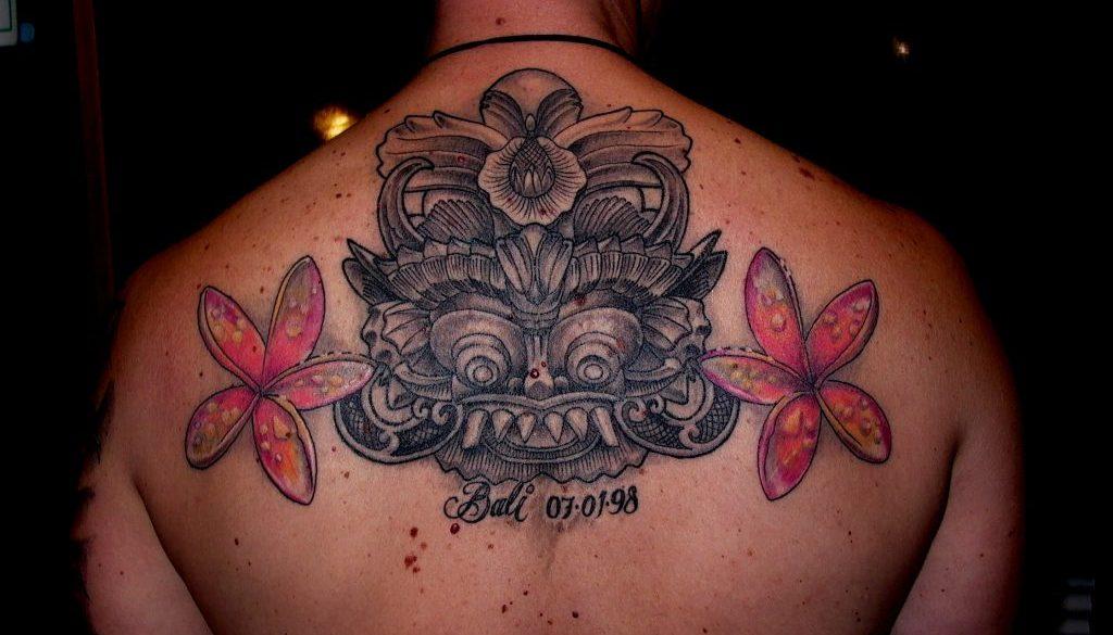bali mask tattoo tattoo Tauranga New Zealand