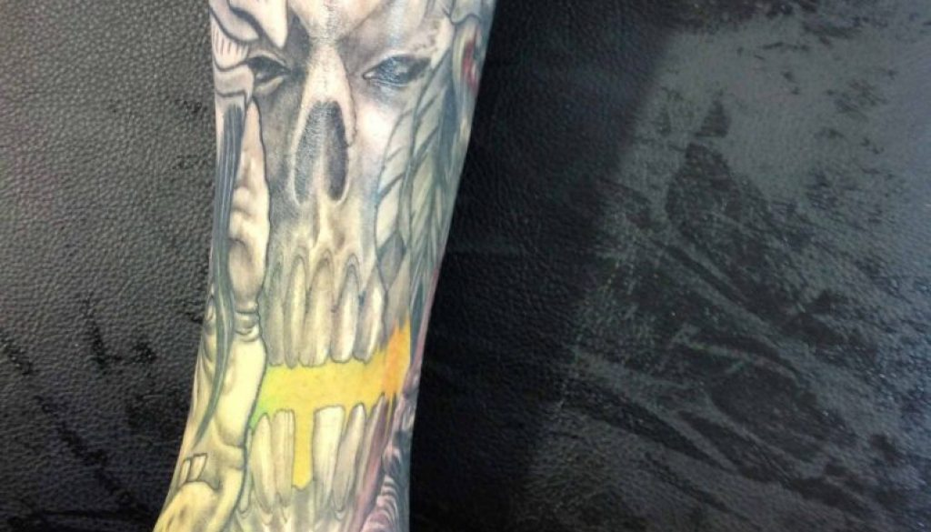 skull tattoo Tauranga New Zealand