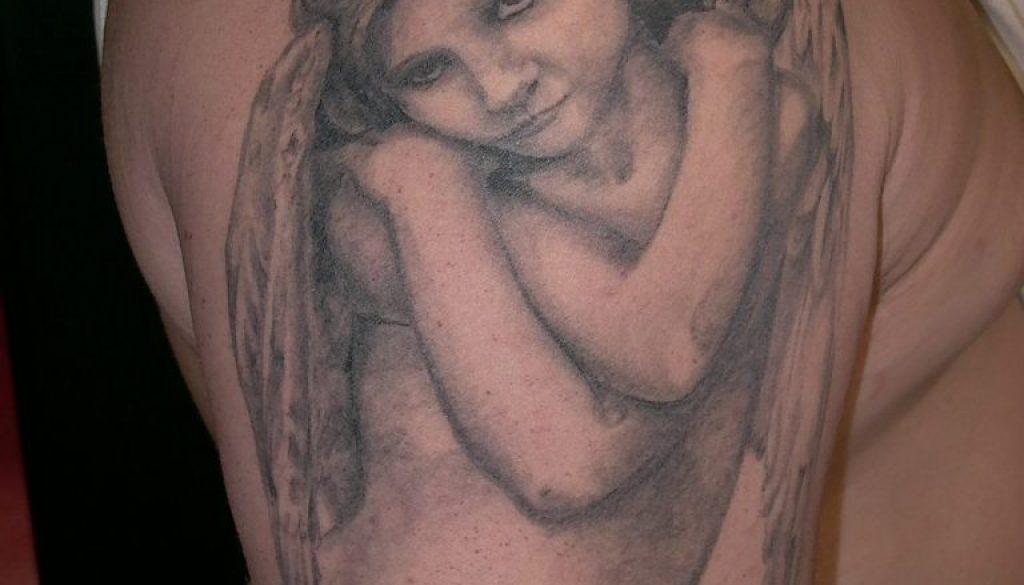 angel girl tattoo