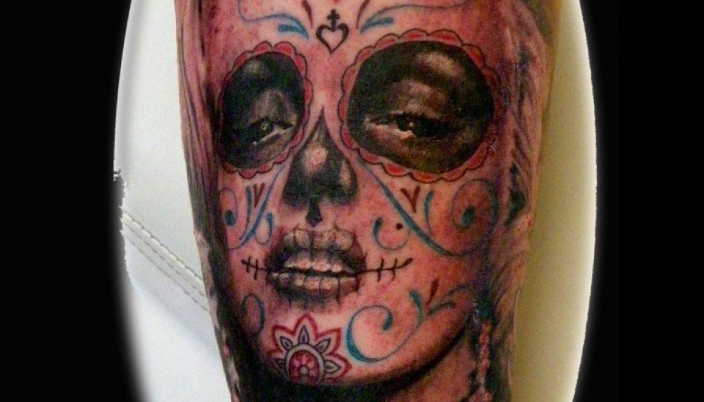 Marilyn monroe portrait tattoo Tauranga New Zealand