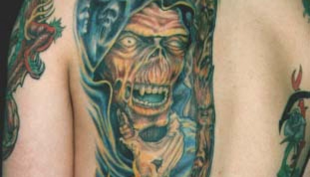 reaper grim tattoo Tauranga New Zealand