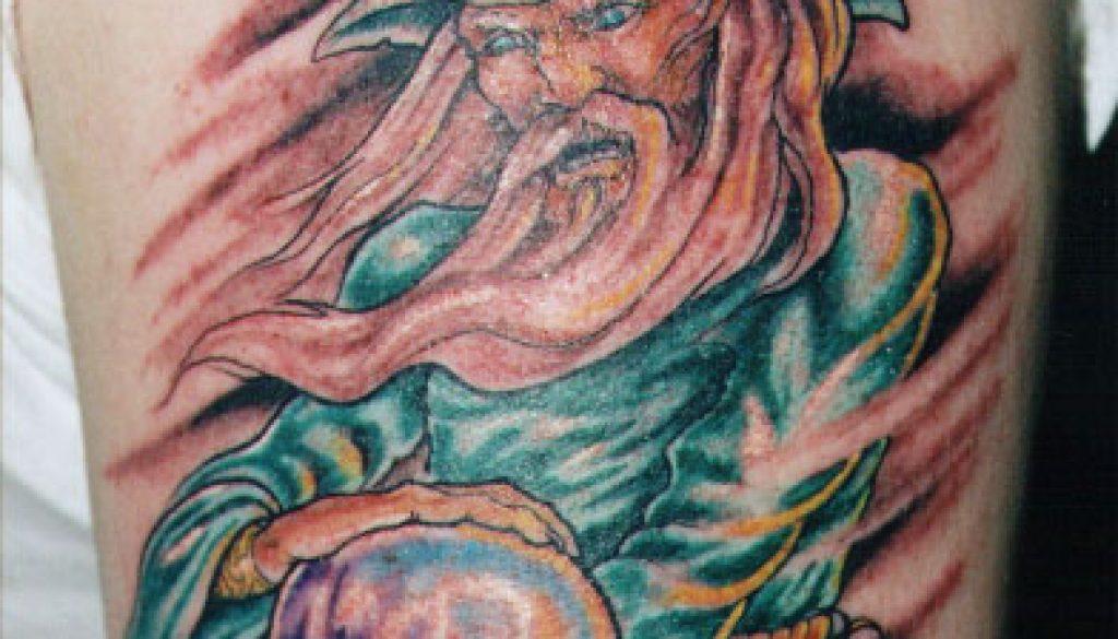 wizard tattoo Tauranga New Zealand